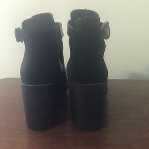 Zara Shoes - Zara chunky heel cut out booties